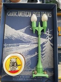 Gilbert American Flyer vintage accessories, light posts