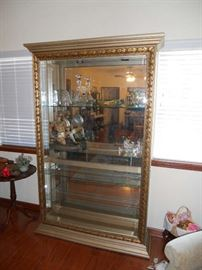 "Large decorative curio cabinet 80"" tall 51"" wide"