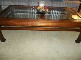 Thomasville Coffee Table with Matching End Table