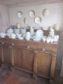 Empire Buffet & Large set of Haviland Limoges