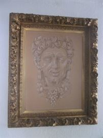 """Bacchus"" Pastel in Antique Gilt Frame"
