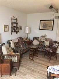 Matching love seats, pictures, lamps, chairs and more!