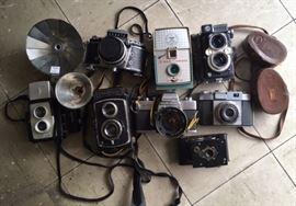 Vintage cameras and accessories