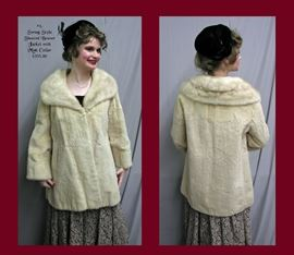 #4. Sheared Beaver Jacket w/Mink Collar Swing Style - $395.00