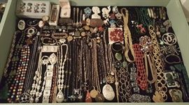Jewelry including sterling, gold, turquoise, bone, and more