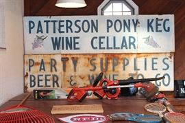 Original Patterson Pony Keg Metal Sign! Comes in 2 peices with mounting hardware.  Each sign measures 8 ft x 2 ft This is a local rare find!