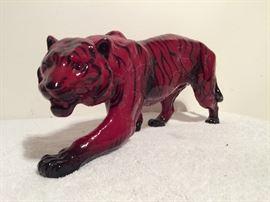 """16"""" Royal Doulton Flambe Tiger"""