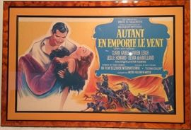 Beautifully Framed French Lobby Card, Gone With The Wind