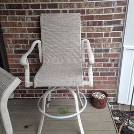 barstool height patio chairs