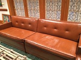 Retro two-piece couch/converts to two single beds