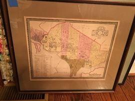 Antique map of Washington