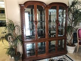 Beautiful arched top china cabinet