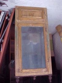 EARLY COUNTRY STORE DISPLAY ICEBOX 6 FOOT TALL