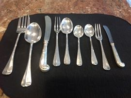 Sterling Silver Stieff Flatware and Serving for 14 settings.  There are over 100 pieces