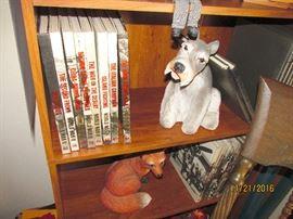 BOOKS, FOX, DOG