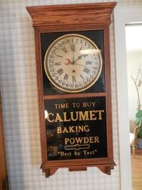 Vintage Advertising Clock, for Calumet Baking Powder