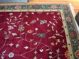 Tibetan rug, approximately 9X12