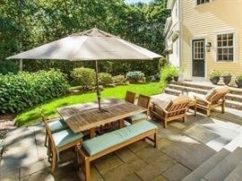 Gloster teak patio furniture