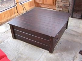 Stickley style coffee table with storage below.