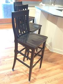 Three Pottery barn bar chairs.