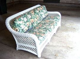 Wicker sofa.