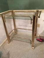 brass and glas tea cart