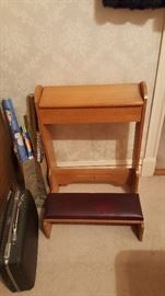 Kneeler with storage box.