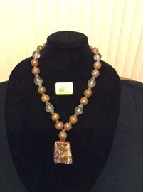 HFJ011 Opal Pendant w/ Opal and Lucite Beads