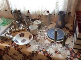 Pewter, Wedgewood,antique porcelain pieces