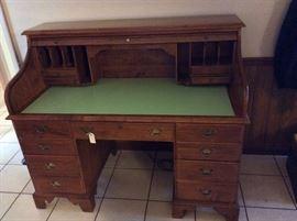 """Roll top desk. 55"""" width."""