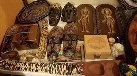 Wood Masks, Carvings, Unique, Africa, Asia, Indonesia, Ghana, Mali, Rare, West Africa, Leather, Egypt, Eggs, Jay Strongwater, Crystal Vase, Bee Vase, Porcupine Quill Belt, Piraroku South America, Tray, Serving Tray, Thailand, Ipsara, Gifts, Collectibles, Vintage, Rare, Unique, Painting, art, serving tray, hand carved, hand painted,