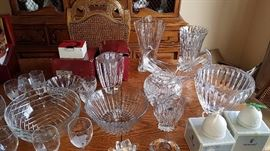 Crystal Bowls and Decor - Val St. Lambert, Bohemia from Czech Republic, Orrefors Zodiac Bowl and Zodiac Vase, Orrefors crystal heart candle holder, Gorham vase, Cut crystal pieces, giftware, Gorgeous rare Cofrac Art Verrier French Crystal wave bowl vase centerpiece, Lladro Bells discontinued, retired, porcelain figurine, Wood Masks, Carvings, Unique, Africa, Asia, Indonesia, Ghana, Mali, Rare, West Africa, Leather, Egypt, Eggs, Jay Strongwater, Crystal Vase, Bee Vase, Porcupine Quill Belt, Piraroku South America, Tray, Serving Tray, Thailand, Ipsara, Gifts, Collectibles, Vintage, Rare, Unique, Painting, art, serving tray, hand carved, hand painted,