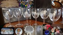 Crystal Glass Etched Glasses set of 6 wine glasses from South Africa etched with wildlife, cheetah, giraffe, lion, rhino, elephant, leopard, limoges Peint Main porcelain box, Judaica, crystal turtle, paperweights, crystal diamond votive holder, crystal dreidel, Crystal Bowls and Decor - Val St. Lambert, Bohemia from Czech Republic, Orrefors Zodiac Bowl and Zodiac Vase, Orrefors crystal heart candle holder, Gorham vase, Cut crystal pieces, giftware, Cofrac Crystal wave bowl vase, Lladro Bells discontinued, retired, porcelain figurine, Wood Masks, Carvings, Unique, Africa, Asia, Indonesia, Ghana, Mali, Rare, West Africa, Leather, Egypt, Eggs, Jay Strongwater, Crystal Vase, Bee Vase, Porcupine Quill Belt, Piraroku South America, Tray, Serving Tray, Thailand, Ipsara, Gifts, Collectibles, Vintage, Rare, Unique, Painting, art, serving tray, hand carved, hand painted,