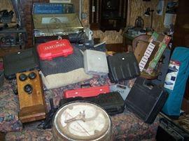 OLD OAK WALL PHONE & CRAFTSMAN TOOLBOXES