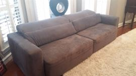 Grey Couch Gorgeous Condition pull out sofa $210.00      better than a futon