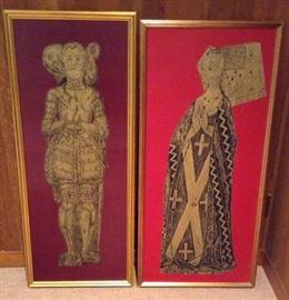 Salisbury Cathedral Brass Rubbings Replica