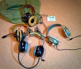 WW2 Aviator head sets