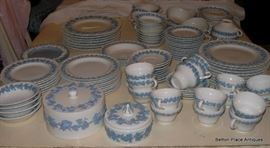 Wedgwood Queens Ware Dinner Ware, two styles involved, wavy edge and straight edge.