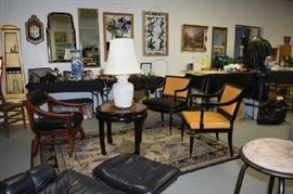Asian Chairs, Tables, Lamps, Leaded Glass Windows, Mirrors, Asian Mirror