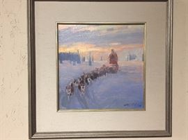 Original Oil On Canvas Bound for Nome