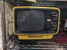 RCA Solid State Yellow TV