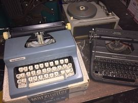 Underwood and marxwriter typewriters