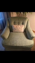 There are two of these chairs and they are in excellent condition.