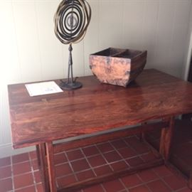 Heavy folding Desk/Table Beautiful wood