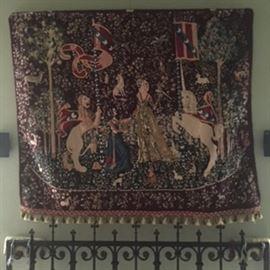Lady & Unicorn Hand stitched Medici French Wool