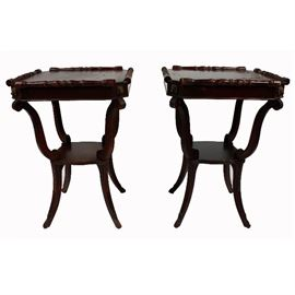Matching Lion End Tables