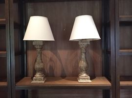 """Pair of great lamps - 39""""high $240"""