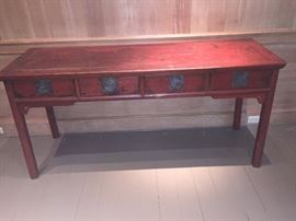 """antique Asian altar table /sideboard 68""""wide x 22.25""""deep x 33""""high $2600"""