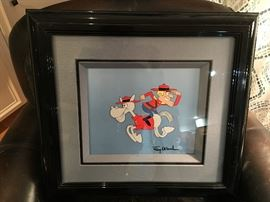 "Jay Ward (American 1920-1989)  Dudley Do-Right  Animation Cell 11"" x 9""  Circa 1993  AV $600-$800"