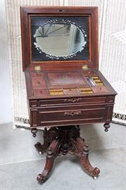 Antique sewing table